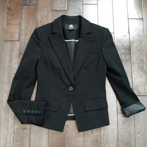 Rock & Republic Women's Black Single Button Blazer